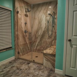 natural stone shower remodel by the bath kitchen pros