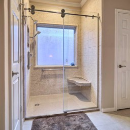 tub to shower - synthetic tile by the bath kitchen pros